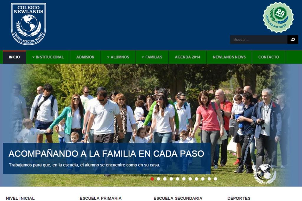 Web Colegio Newlands